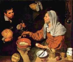 Diego Velasquez - Old Woman Poaching Eggs