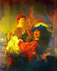 Rembrandt - Self Portrait With Saskia