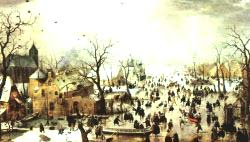 A Scene On The Ice Near A Town 1