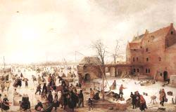 A Scene On The Ice Near A Town 2