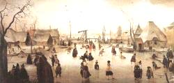 Skaters By A Village