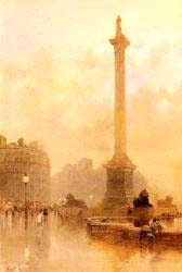 Nelson-s Column In A Fog