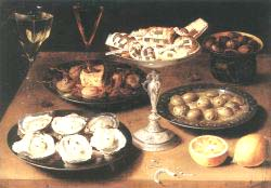 Still'Life With Oysters And Pastries