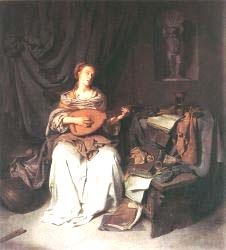 Woman Playing A Lute 2