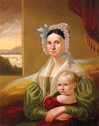 Mrs David Steele Lamme And Son William Wirt