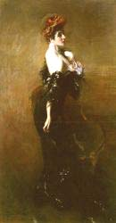 Portrait Of Madame Pages In Evening Dress
