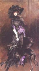 Portrait Of The Marchesa Luisa Casati With A Greyhound