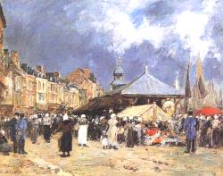 Market At Trouville 1