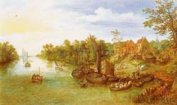 River, Landscape With Landing