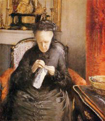 Portait Of Madame Martial Caillebote (the Artist-s Mother)