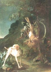 Game Still'Life With Hunting Dog
