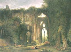 Tintern Abbey With Elegant Figures