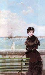 An Elegant Woman At St. Malo