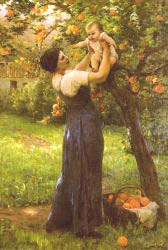 Mother And Child In The Garden