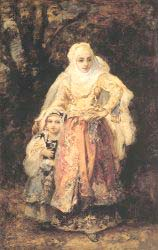 Oriental Woman And Her Daughter