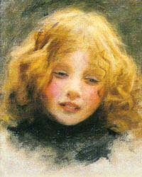 Head Study Of A Young Girl