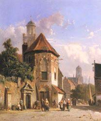 View Of A Dutch Street