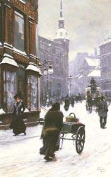 A Street Scene In Winter - Copenhagen