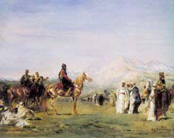 Arab Encampment In The Atlas Mountains
