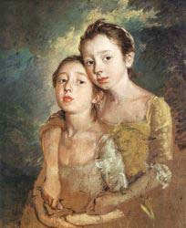 The Artist-s Daughters With A Cat