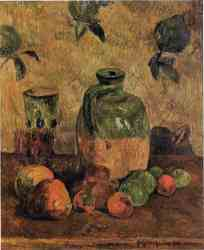 Apples, Jug and Iridescent Glass