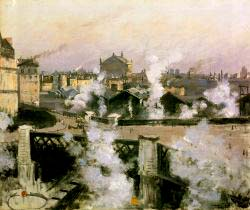 The Pont De L'Europe And Gare Saint-Lazare