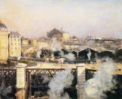 The Pont De L'Europe And The Gare Saint-Lazare With Scaffold