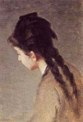 Portrait Of Jeanne Gonzales In Profile