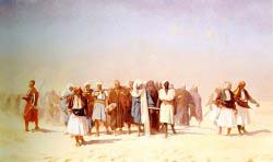 Egyptian Recruits Crossing The Desert