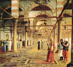 Public Prayer In The Mosque Of Amr - Cairo