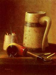 Still Life - Pipe And Mug