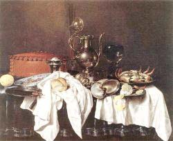 Still'Life With Pie - Silver Ewer And Crab