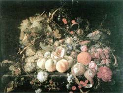 Still'Life With Flowers And Fruit