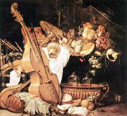 Vanitas Still'Life With Musical Instruments