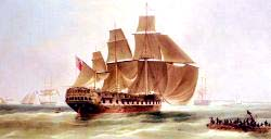 An East Indiaman Entering Madras Harbour - India