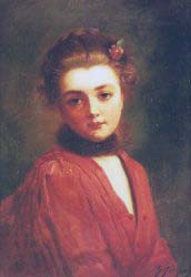 Portrait Of A Girl In A Red Dress