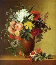 Still Life With Flowers In An Earthenware Vase