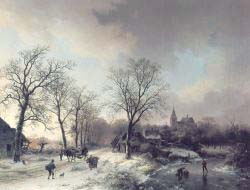 Figures In A Winter Landscape 2