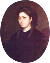 Portrait Of A Young Woman Dressed In Black Velvet