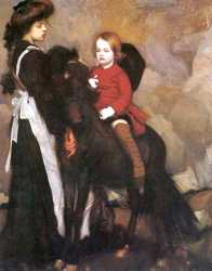 Equestrian Portrait Of A Boy