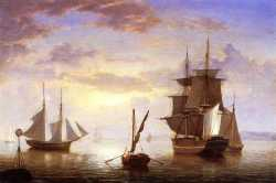 Ships In A Harbor - Sunrise