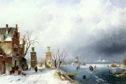 A Sunlit Winter Landscape