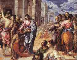 Christ Healing The Blind - 1577