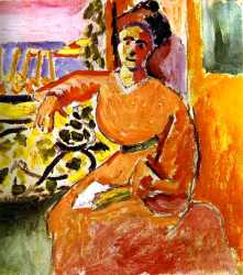 A Woman Sitting Before The Window