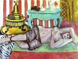 Odalisque With Green Scarf