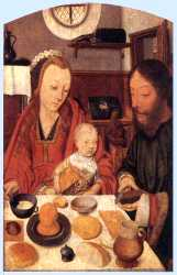 The Holy Family At Table