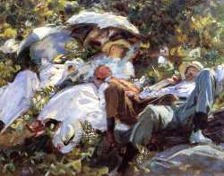 Group With Parasols (A Siesta)