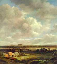 View Of Haarlem With Bleaching Grounds - 1665