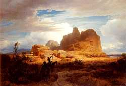 Don Quixote And Sancho Panza - Oswald Achenbach