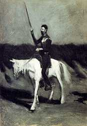Don Quixote On Horseback - Edward Hoper - 1904